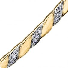 9ct Yellow Gold 0.13ct Diamond Narrow Twist Bangle BR867/13-10
