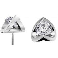 9ct White Gold 0.20ct Tension-set Diamond Stud Earrings E2038W/20-18