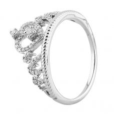 9ct White Gold 0.20ct Diamond Tiara Ring THR23686-20