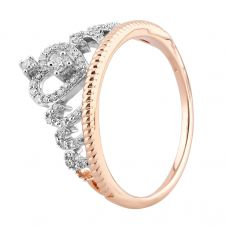 9ct Rose Gold 0.20ct Diamond Tiara Ring THR23686-20