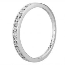 9ct White Gold 0.05ct Diamond Half Eternity Ring THR23311-05