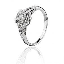 9ct White Gold Square Diamond Cluster Ring SKR15203-50