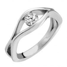 Platinum Open Wave 0.25ct Solitaire Ring R1-1010(4.0) L