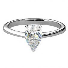 Platinum Pear Shape Certificated Diamond Ring CP2(10X7)-G/VVS2/1.48ct