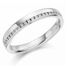 Platinum Channel-set 0.12ct Diamond Half Eternity Ring HET1152 PLAT M