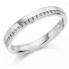18ct White Gold Channel-set 0.12ct Diamond Half Eternity Ring HET1152 18W O