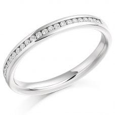 18ct White Gold 0.15ct Diamond Half Eternity Ring HET935 18W