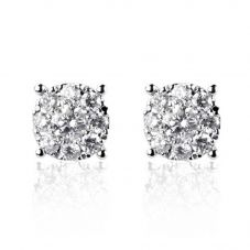 18ct White Gold 0.24ct Diamond Cluster Earrings IRERG1-5.0PR