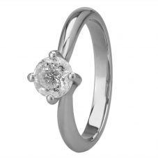 Mastercut Grace 18ct White Gold 0.75ct Four Claw Twist Diamond Solitaire Ring C13RG001 075W