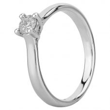 Mastercut Elegance 18ct White Gold 0.25ct Four Claw Diamond Solitaire Ring C11RG001 025W