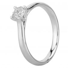 Mastercut Starlight 18ct White Gold 0.40ct Four Claw Diamond Solitaire Ring C10RG001 040W