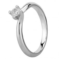 Mastercut Grace 18ct White Gold 0.20ct Four Claw Twist Diamond Solitaire Ring C13RG001 020W