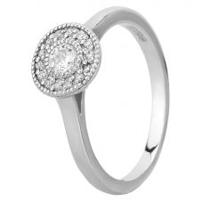 Mastercut Vintage 18ct White Gold 0.20ct Diamond Cluster Ring C6RG001 020W