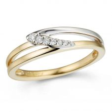 9ct Gold Two Colour Diamond Open Work Ring 32.09270.002