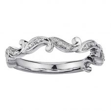 9ct White Gold 0.08ct Diamond Swirl Half Eternity Ring 53C14WG/10