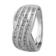 9ct White Gold 1.00ct Diamond Channel-set Multi Wave Ring SKR20789-100CH