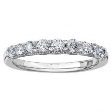 18ct White Gold 0.50ct Diamond Bridge Accent Half Eternity Ring 50J45WG/50-18 M