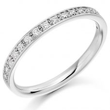 Platinum 0.25ct Diamond Half Eternity Design Ring HET1792 PLAT