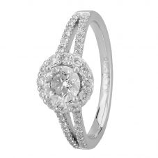 Signature Collection Platinum GIA Certificated Diamond Cluster Ring DSC64(6.5)1.00CT PLUS