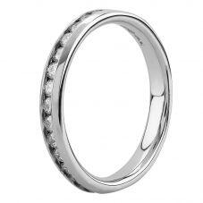 Platinum Channel Set 0.50ct Diamond Half Eternity Ring 8991/PL/DQ10/50PT