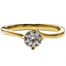 18ct Gold 0.35ct Diamond Single Stone Twist Ring  R1-137(4.0)