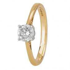 1888 Collection 18ct Gold Certificated Basket-set Diamond Solitaire Ring CR8-SA11(.70CT PLUS)