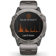 Garmin Fenix 6X Pro Solar Edition Titanium Bracelet Watch 010-02157-24