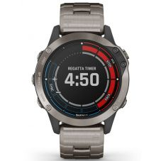 Garmin Quatix 6 Grey Titanium Bracelet Watch 010-02158-95