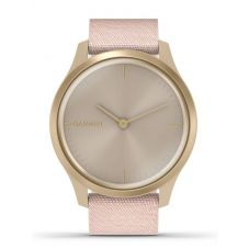 Garmin Vivomove Style Light Gold Blush Pink Fabric Strap Watch 010-02240-02