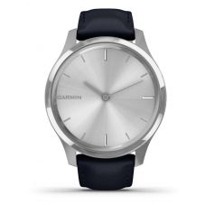 Garmin Vivomove Luxe Navy Leather Strap Watch 010-02241-00