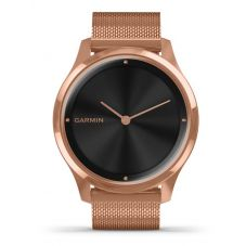 Garmin Vivomove Luxe Rose Gold PVD Milanese Strap Watch 010-02241-04