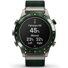 Garmin Marq Golfer Titanium Green Fabric Strap Watch 010-02395-00