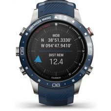Garmin Marq Captain: American Magic Edition Blue Rubber Strap Watch 010-02454-01