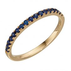 9ct Yellow Gold Sapphire Half Eternity Ring GR536L
