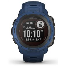Garmin Instinct Solar Tidal Blue Rubber Strap Watch 010-02293-01