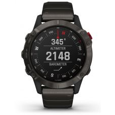 Garmin Fenix 6 Pro Solar Edition Titanium Carbon Grey DLC Bracelet Watch 010-02410-23