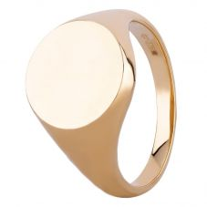 9ct Yellow Gold Round Plain Signet Ring SIG033 T