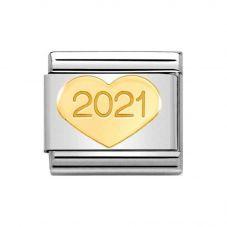 Nomination Symbols '2021' Gold Heart Charm 030149/39