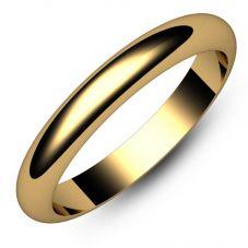 9ct 3mm D-Shape Ring DSL3 9Y M