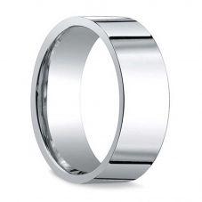 Platinum 6mm Flat Court Wedding Ring Plat 6mm 9.1GRM