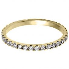 18ct Yellow Gold 2.5mm Vintage Diamond Half Eternity Ring WVGH1/2.5R230 18YG