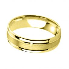 9ct Gold 5.0mm Court Bevelled Brushed and Polished Wedding Ring BC5.0/F06 9Y