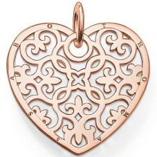 Thomas Sabo Rose Gold Plated Filigree Heart Pendant PE650-415-12