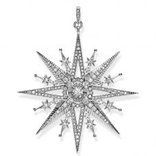 THOMAS SABO Cubic Zirconia Royalty Star Pendant PE819-643-14