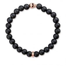 Thomas Sabo Rebel at Heart Skull Rose Bracelet A1510-444-11