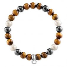 Thomas Sabo Tigers Eye With Pearl Bracelet X0218-948-2