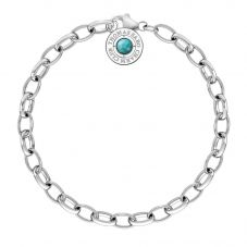 Thomas Sabo Charm Club Simulated Turquoise  Bracelet X0229-404-17