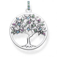 THOMAS SABO Sterling Silver Multistone Tree Of Love Pendant PE826-348-7