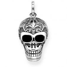 Thomas Sabo Sterling Silver Oxidized Lily Skull Pendant PE771-637-21