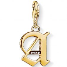 Thomas Sabo Gold Plated Cubic Zirconia A Charm 1607-414-39